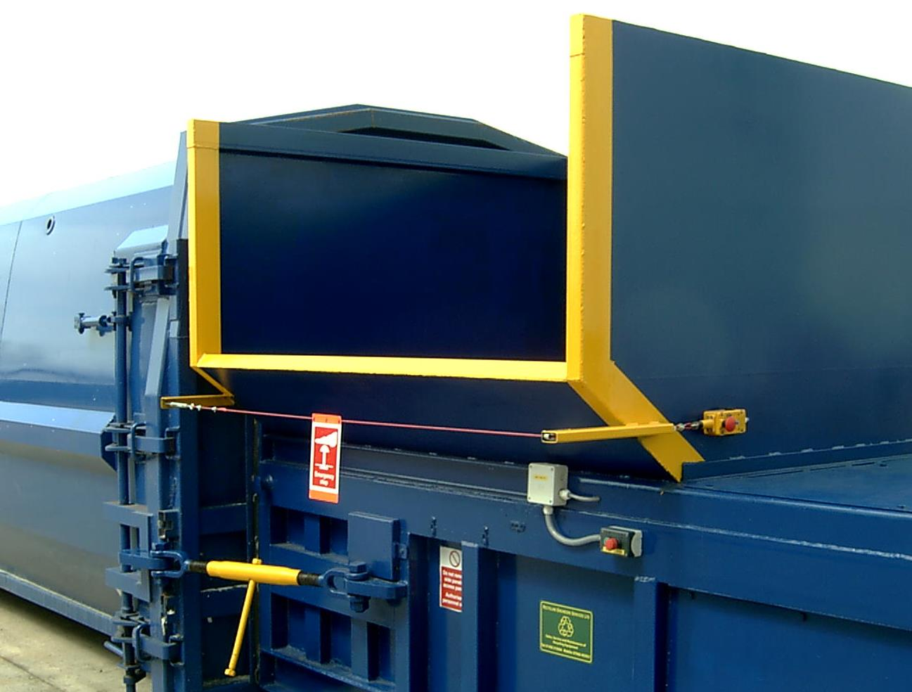 another view of a baler